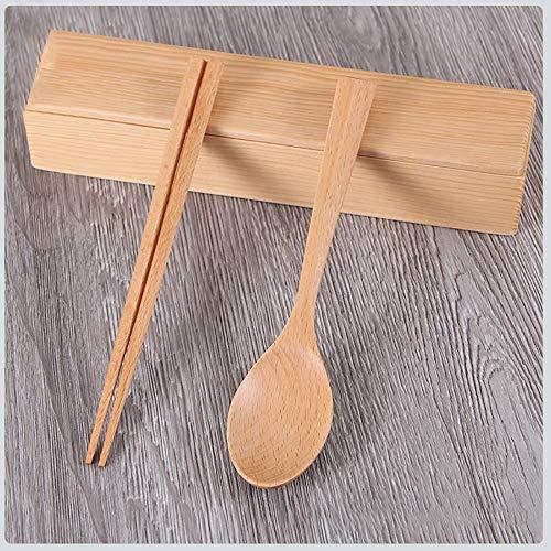 SOMESUN Natürlich Gesund Holz Besteck Chinesisch Japanisch Traditionell Lebensmittelqualität...
