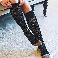 Salamii Calcetines de Invierno Calcetines de Punto de Tubo de Mujer Calcetines de otoño e Invierno de Mujer (Color: Negro)
