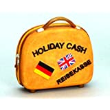 Tirelire en céramique en forme de valise pour les économies de vacances 11 x 11cm
