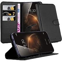 Cadorabo - Funda Huawei G7 PLUS / G8 Book Style de Cuero Sintético en Diseño Libro - Etui Case Cover Carcasa Caja Protección (con función de suporte y tarjetero) en NEGRO-FANTASMA