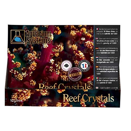 Aquarium Systems 2010000 Aquarien Meersalz Reef Crystals Portionsbeutel, 10 L -