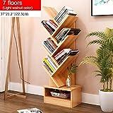 GRY Einfaches modernes Bücherregal-Bücherregal-Regal, das kreative Baum-Form mit Fach landet,7 Etagen,*3*