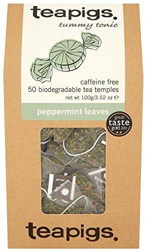 Teapigs Peppermint Leaves Tea 50 Tea Bags (Pack of 2)