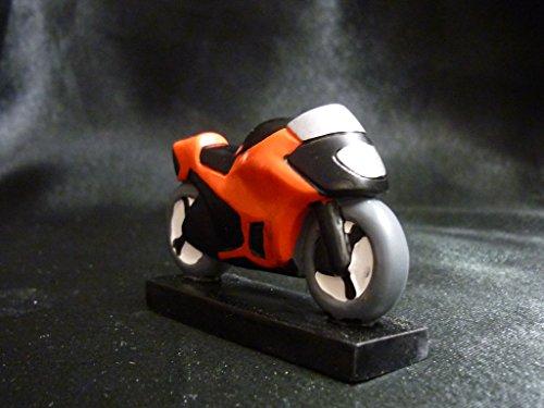 Color rojo moto resina decoración para tarta para