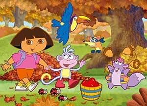 Clementoni - Puzzle pour enfant - Dora Paysage D'automne - 60 pièces