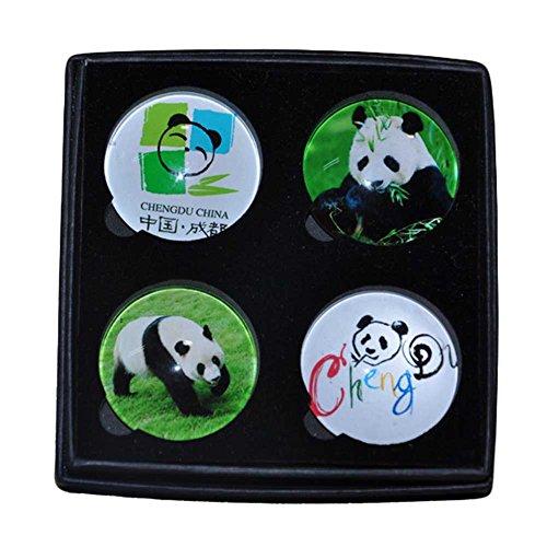 Preisvergleich Produktbild 4 Stück Kristall Chengdu Panda Kühlschrankmagnete Küchen-Magneten