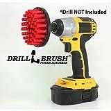 Drill Brush Power Scrubber Rouge 10cm fixation pour perceuse sans fil électrique Scrubber Heavy Duty Stiff Brick conrete Nettoyage Pierre