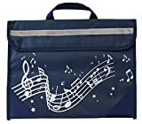 Musicwear: Wavy Stave Music Bag (Navy Blue)