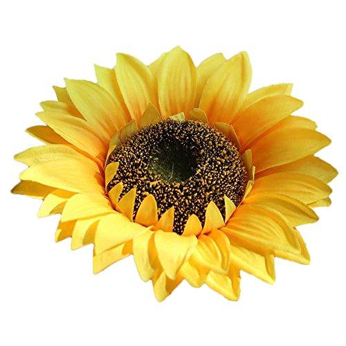 Andouy teste di fiori artificiali di girasole finti di seta falso bouquet home decor garden