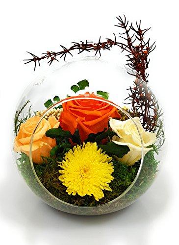 Rosen-te-amo Muttertags Geschenk für sie konservierte-Rosen - Blumen-Gesteck aus ECHTE Blumen in der Vase, Blumenstrauß in der Vase