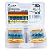 ELEGOO 525pcs Kit de résistance électrique 17 Valeurs 0 Ohm-1M Ohm 1% avec boîte en Plastique Composants électroniques pour Projet expérimental et Projet expérimental