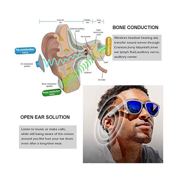 Auriculares Estéreo, Auriculares Bluetooth Gafas De Sol Música Auricular Sin Manos De Conducción Gafas Deportivas… 3