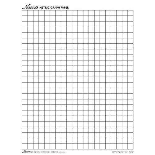 Nasco tb25325t Graph Papier, 1cm Quadrate, 11x 8-1/5,1cm 100Blatt, Lernstufen pre-k + 11 X 11-quadrat