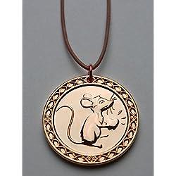 """Medalla """"Ratón"""" del Ratoncito Pérez - en bronce dorado"""