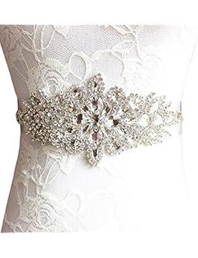 BABEYOND boda sash Rhinestone cuentas de sash perla cinturón Rhinestone cinturón de boda Rhinestone cinturón Applique...