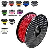 DEMU 3D Drucker Filament PLA Spule Rolle 1kg 1.75mm für 3D Drucker 3D stifte (Rot)