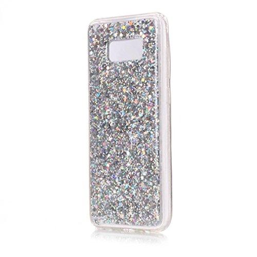 Ouneed® Für Samsung Galaxy S8 Plus Hülle , Glitter Crystal Clear Weiche TPU Shockproof Case Cover für Samsung Galaxy S8 Plus (Silber)