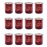 ZARTMANN LIVING Teelichtglas DEYLE - 12 Stück - Beere - verspiegelt - Teelichthalter - Lila (6,5 x 5,5 cm)