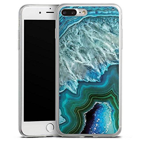 Apple iPhone X Slim Case Silikon Hülle Schutzhülle Kristall Edelstein Blau Silikon Slim Case transparent