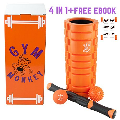 Gym Singe. complet Sport/Fitness 4 en 1 Kit de massage. Rouleau en mousse, Canne, boule balle à picots, Crosse. Sans manuel d'instructions PDF.