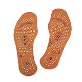 zroven 1Pair terapia magnetica di sanità di massaggio del piede solette per gli uomini/donne magnetica del pattino per massaggi rilievi del piede