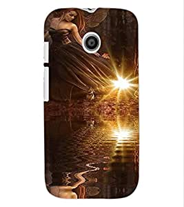 ColourCraft Angel Design Back Case Cover for MOTOROLA MOTO E