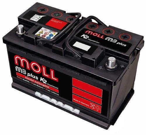 Preisvergleich Produktbild Moll M3 Plus K2 Doppeldeckel 83091 91Ah (760A Kälteprüfstrom)