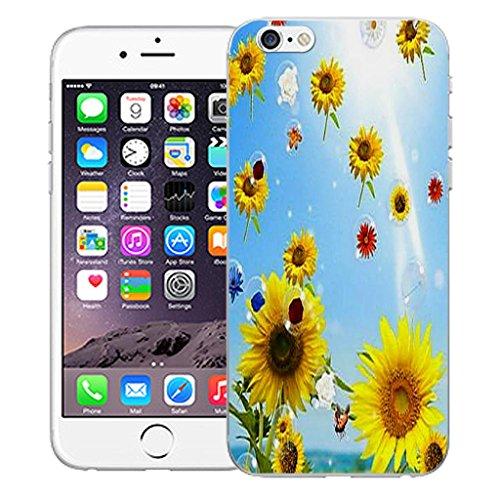 """Mobile Case Mate iPhone 6 4.7"""" inch clip on Dur Coque couverture case cover Pare-chocs - sunflower bubbles Motif avec Stylet sunflower bubbles"""