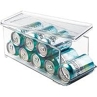InterDesign Fridge/Freeze Binz Organizador de latas para frigorífico, caja de plástico con tapa