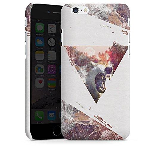 Apple iPhone X Silikon Hülle Case Schutzhülle Hipster Wolf Dreieck Premium Case matt