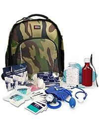 """DURAGADGET Sac à dos """"camouflage"""" de premiers secours pour infirmiers / aide soignants / médecins / secouristes / pompiers - compartiments pour votre matériel médical"""