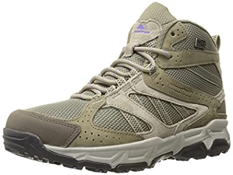 Montrail Women's Sierravada Mid Outdry Waterproof Leather Hiking Boot, Pebble/Paisley Purple, 5 M US