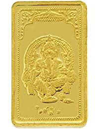 TBZ - The Original 5 gm, 24k(999) Yellow Gold Ganesh Precious Coin