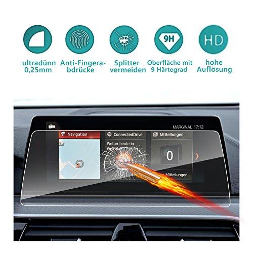 Gehärtetes Glas Schutzfolie für das Navigationssystem 10.25 Zoll von BMW 5er M5 /5er GT (G30)(G31)unsichtbare Displayschutzfolie Schirmfolie Glasfolie Klarsichtfolie -RUIYA