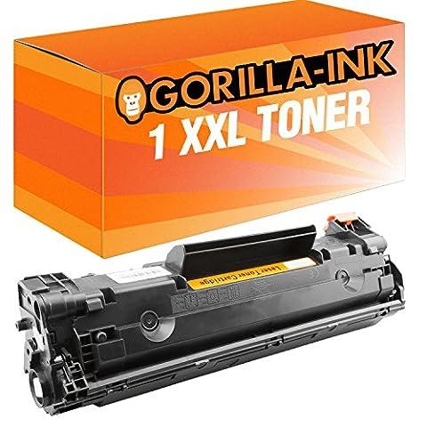 Gorilla-Ink® 1x Laser-Toner XXL Black kompatibel zu HP CE285A LaserJet Professional P 1100 Series 1102 1102 W 1103 1104 1104 W 1216 NFH MFP 1217 NFW MFP