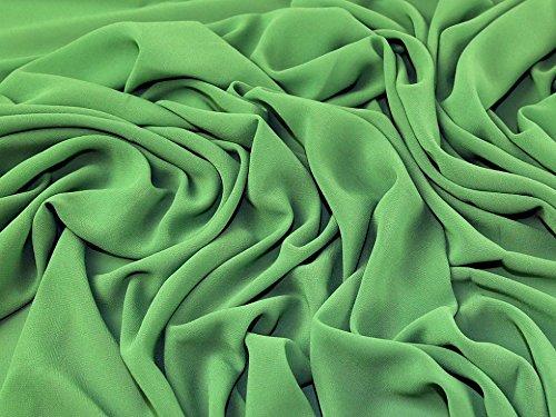 Leichtes Polyester Crepe Georgette-Kleid Stoff, Meterware, Grün (Polyester Crepe)