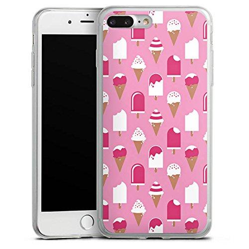 Apple iPhone 8 Plus Slim Case Silikon Hülle Schutzhülle Eis Sommer Eiscreme Silikon Slim Case transparent