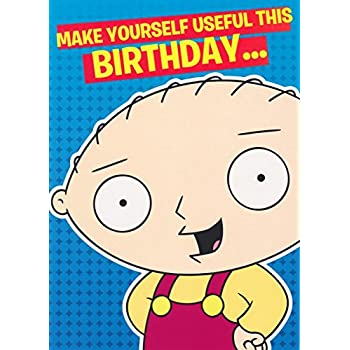 Family guy peter griffin birthday card sound card amazon family guy useful stewie birthday card 5x7 bookmarktalkfo Gallery