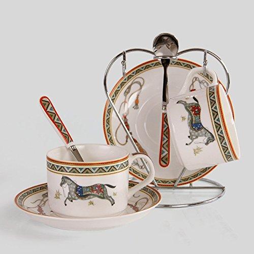 Ensemble de tasse de café en céramique / tasse de café set / creative 2 tasse de café de 2 disques / cadeau (4 couleurs facultatives) ( couleur : B )