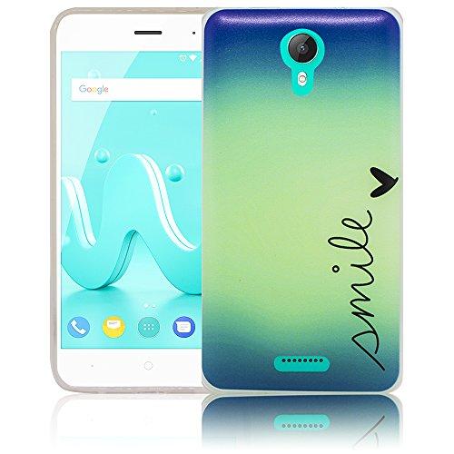thematys Passend für Wiko Jerry 2 Smile Silikon Schutz-Hülle weiche Tasche Cover Case Bumper Etui Flip Smartphone Handy Backcover Schutzhülle Handyhülle
