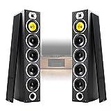 Fenton 2x Passive Home HiFi Tower Speakers 600W Max