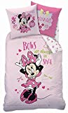 "Bettwäsche Set Disney Minnie Mouse 135x200cm + 80x80cm Biber/Flanell ""Beauty"""