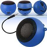 N4U Accessoires - Mini Haut-Parleur de Poche Portatif - Câble USB de Chargement et port Jack incorporé – 3.5mm - Super Sound - Bleu - Pour Samsung I9300 Galaxy S 3