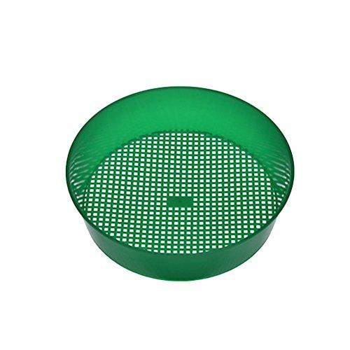OUNONA Gartensieb-Plastik-Rätsel für Kompost-Boden-Stein-Maschen-Gartenarbeit-Sämlings-Werkzeug