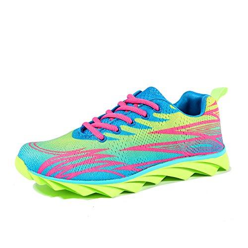 Sapatilhas Calçado Mulheres Homens Tênis Adultos Verdes Sapatos Desportivo Casuais Executando Sapatos Fluorescentes H4tBtwq
