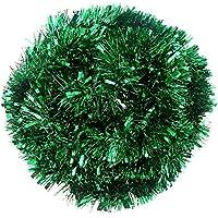 DIYASY Green Christmas Chunky Tinsel Garland Decorations for Christmas Tree Decorations (20 FEET Long)