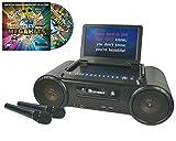 Mr Entertainer Partybox Portable DVD/CD/Cdg/MP3G karaoke con grande schermo, 2microfoni e 200canzoni karaoke