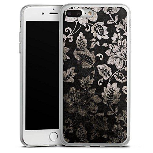 Apple iPhone 8 Plus Slim Case Silikon Hülle Schutzhülle Ornamente Muster Blumen Silikon Slim Case transparent