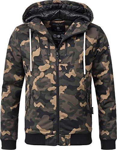 Navahoo Herren Winter Jacke Kapuzenjacke Hunter No 1 (vegan hergestellt) 9 Farben S-XXL Camouflage