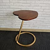 SFBZ Piccolo tavolo laterale Moderno semplice Piccolo tavolo rotondo in legno di legno rotondo Angolo laterale Un paio di tavolini da caffè tavolini da salotto